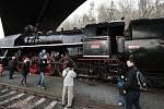 Historický parní vlak v rámci akce Knížecí Velikonoce na Křivoklátě