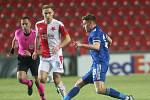 Úvodní zápas 2. kola vyřazovací fáze Evropské ligy 18. února 2021: Slavia - Leicester