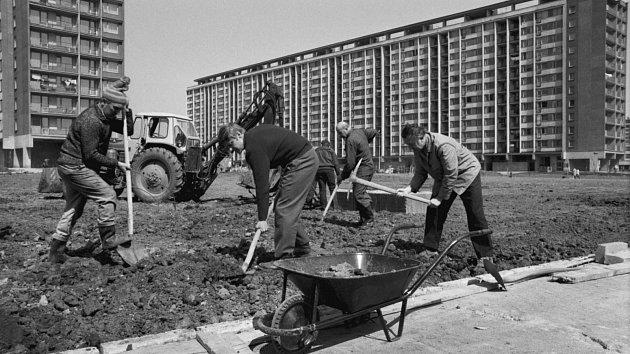 Akce Z. Dobrovolné práce nebyly pro obyvatele Ďáblic ničím cizím. V roce 1975 se na sídlišti v Ďáblicích pracovalo na úpravě zeleného pásu.