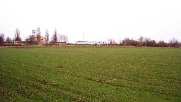 Západní část Vidoule, kterou majitelé pozemků chtěli změnit na obytnou čtvrť.