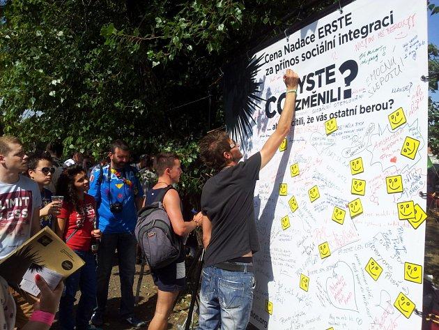 Stěna názorů na Prague Pride 2012