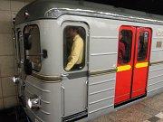 Historická souprava metra. Ilustrační foto.