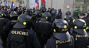 Sobotní demonstrace proti islamizaci. Václavské náměstí