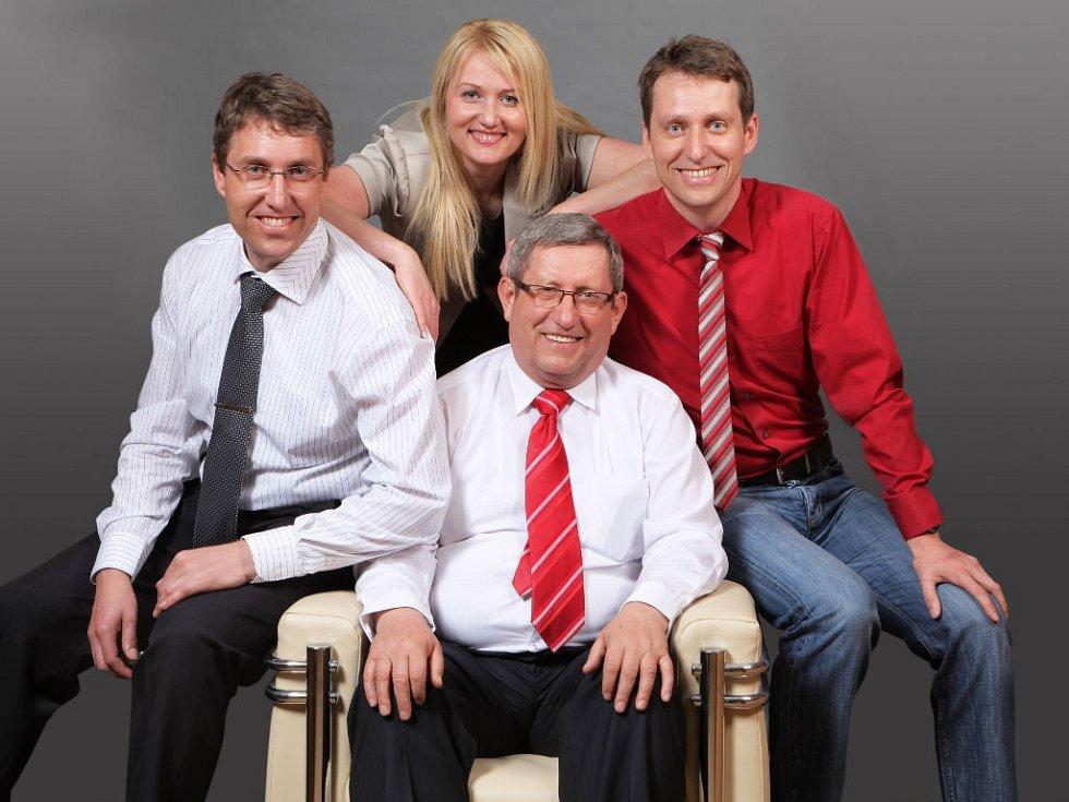 Rodinná firma - Jan Sedláček, Dušan Sedláček, Jana Lagová a Libor Sedláček (zleva doprava).