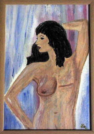 Ukázka díla paní Marie, která se také léčí skostními metastázemi.