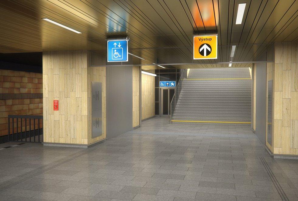 Vizualizace nové podoby stanice metra Opatov.