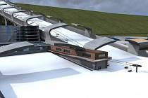 Architekti z kanceláře DECO Group představili svoji vizi Sportovního areálu Lahovice s krytou sjezdovkou a halou pro rychlobruslení.