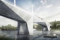 Dvorecký most - vizualizace.