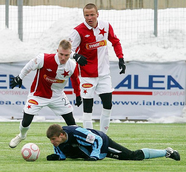 Z přípravného utkání Slavia - Nitra (2:0).