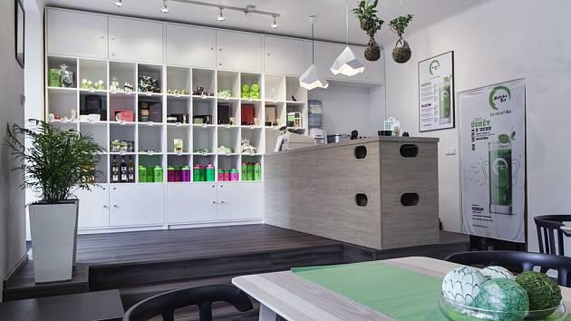 Matcha Point. Showroom je specializovaný na originální japonský čaj.