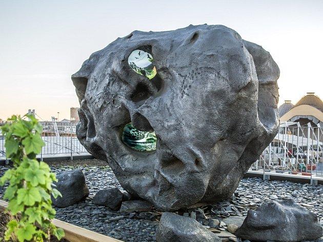 e-Bolid, kterým se na Expu 2015 v Miláně prezentuje Zoo Praha. Jeho autorem je vizuální umělec Jakub Nepraš.