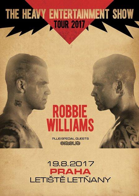Robbie Williams vystoupí vPraze.
