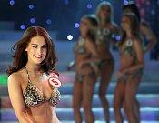Slavnostní galavečer Česká Miss 2014 se konal v Karlínském divadle 29.března. Na snímku Česká Miss Earth Nikola Buranská