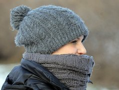 Zima,mráz,teplé oblečení. Ilustrační foto.