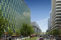 Tak by podle developera mohla vypadat nová čtvrť v Bubnech. Vyrůst by měla na místě zchátralého nádraží.