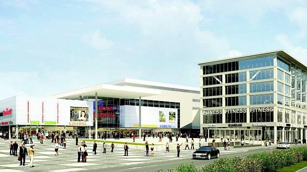 Budoucí podoba nákupního centra Arkády Pankrác.