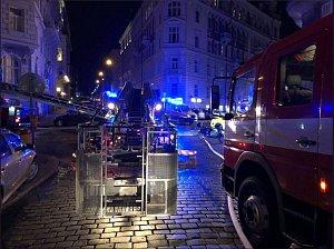 Požár hotelu v Náplavní ulici.