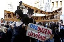 Divadelníci své požadavky a názory vyjádřili již 24. dubna před pražským magistrátem.