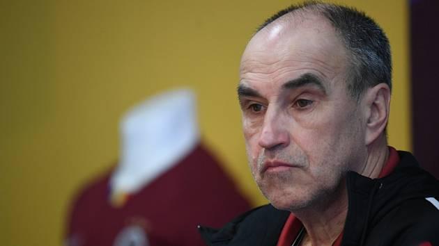 Nový trenér fotbalové Sparty Praha Václav Kotal vystoupil 21. února 2020 v Praze na tiskové konferenci.