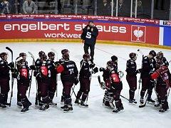 Sparta se raduje z vítězství nad švédským týmem Växjö.