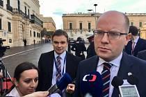 Premiér Bohuslav Sobotka na summitu Evropské unie na Maltě