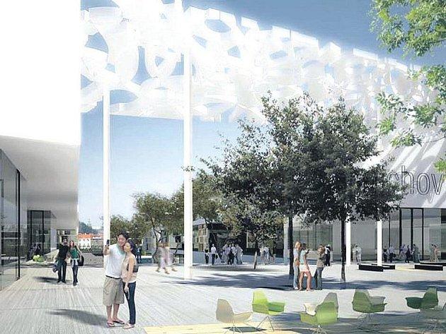 Nástin nového smíchovského náměstí.