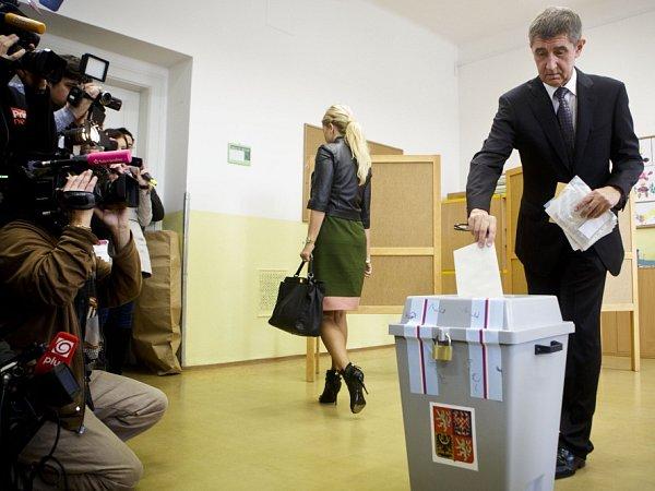 Volby do Poslanecké sněmovny 25.října vZŠ Květnového vítězství vPraze.