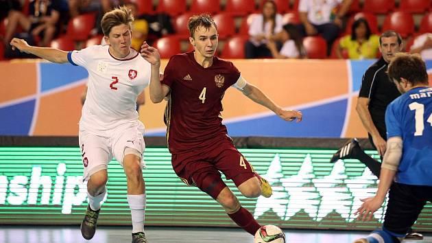 Češí akademici podlehli v semifinále MS ve futsalu Rusku 1:5, 9. července 2016.