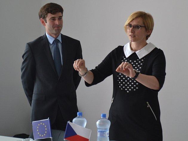 Ministryně pro místní rozvoj Karla Šlechtová na návštěvě Centra Středočeského kraje a Prahy.