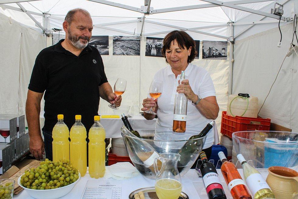 Vinohradské vinobraní. Festival vína na náměstí Jiřího z Poděbrad v Praze 3.