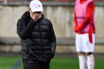 Odvetný zápas čtvrtfinále fotbalové Evropské ligy: Slavia Praha - Arsenal, 15. dubna 2021 v Praze. Trenér Slavie Jindřich Trpišovský.