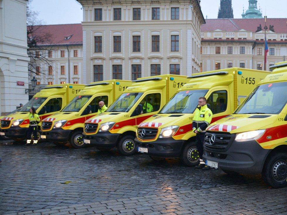Zdravotnická záchranná služba hlavního města Prahy. Ilustrační foto.