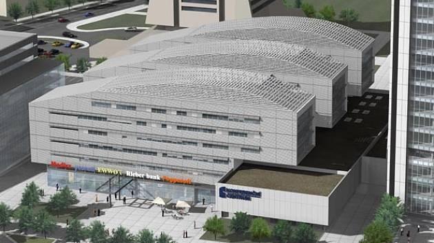 PANKRÁC NESPÍ. Na prstech ruky je možné spočítat nové administrativní budovy, které se letos začnou stavět v Praze. Jednou z nich má být tato budova na Pankráci pro společnost Meridian Spa.