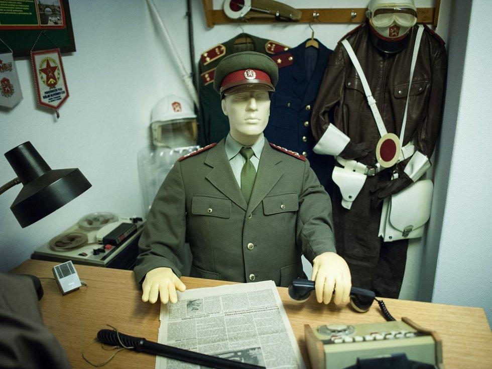 Z protiatomového krytu pod hotelem Jalta na Václavském náměstí v Praze.