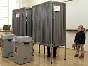 Lukáš Macek na jednom z předvolebních mítinků.