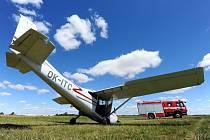 Nehoda malého letadla. Ilustrační foto.
