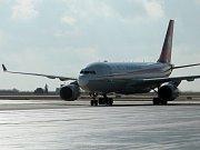 Čekárna náležející k novému odletovému stání na Terminálu 1 pražského letiště