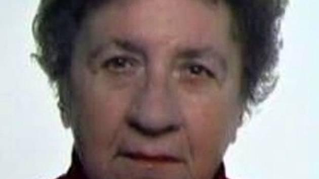 Pohřešovaná žena Olga Prášilová.