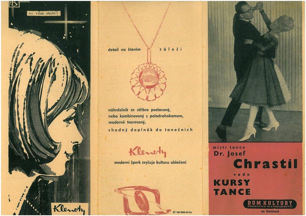 Pozvánka na kurzy tance v Domě kultury.