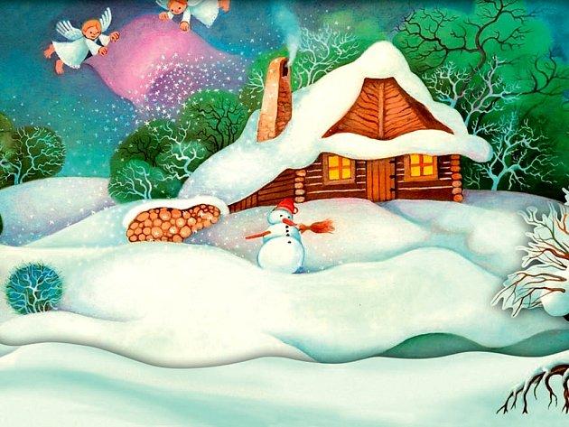 Vánoční pohlednice Konta Bariéry.