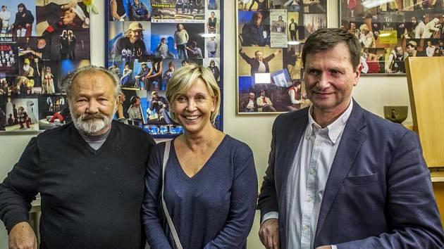 Jan Hrušínský, Miluše Šplechtová a Rudolf Hrušínský ml.