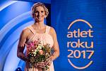 Vyhlášení ankety Atlet roku proběhlo 11. listopadu v Praze. Barbora Špotáková.