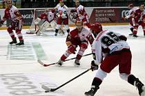 Dohrávka 36. kola hokejové extraligy: HC Slavia Praha - Mountfield Hradec Králové 1:2 (0:0, 0:1, 1:1).