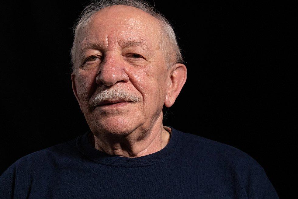 Tadeusz Oratowski při natáčení pro paměť národa.