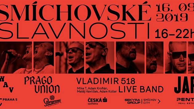 Plakát na Smíchovské slavnosti.