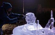 Festival ledové sochy v Galerii Harfa.