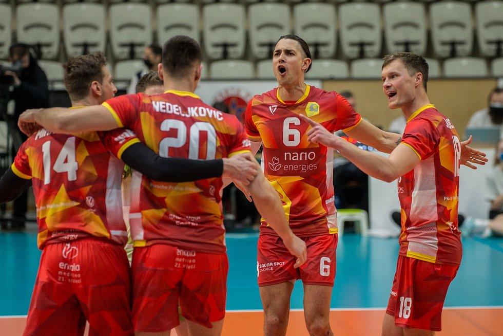 Lvi Praha porazili v prvním utkání semifinále Vyzývacího poháru Ankaru 3:0.