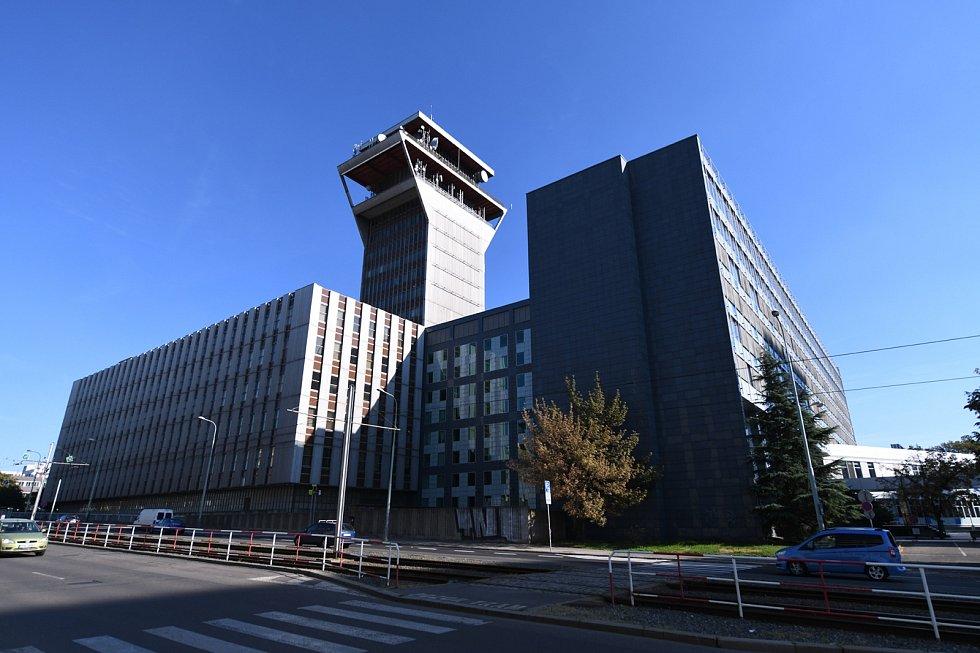 Budova bývalého Telecomu na pražském Žižkově.
