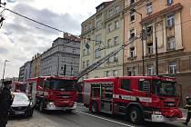 Požár v Nuslích.