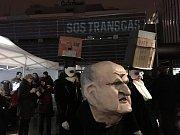 Protest za zachování Transgasu uspořádala iniciativa SOS Transgas